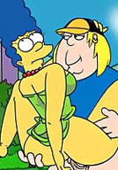 Cock addict Maggie Simpson is banged on asshole by Kearney Zzyzwicz's cock