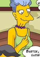 Cute Edna Krabappel is attacked real deep