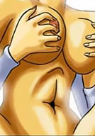 horny Namu with double d titties
